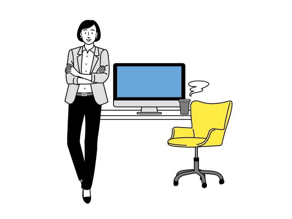 デスクワーク・在宅勤務を健康的に楽しむ方法のイメージ画像